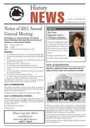 RHSV History News April 2011 - Royal Historical Society of Victoria