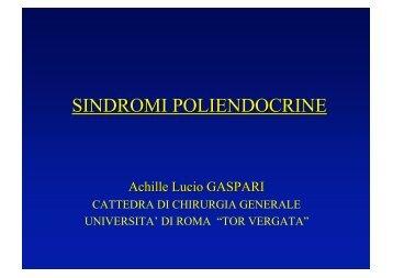 SINDROMI POLIENDOCRINE - Cattedra Chirurgia Tor Vergata
