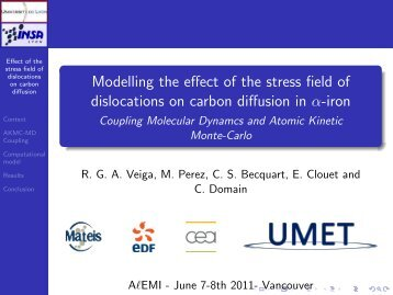 Modelling the effect of the stress field of dislocations on ... - alemi.ca