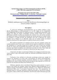 Méthodes statistiques pour le calcul des interférences ... - IETR