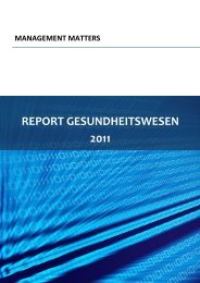 REPORT GESUNDHEITSWESEN 2011 - World Management Survey