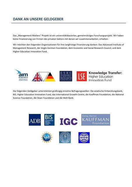 REPORT GESUNDHEITSWESEN 2011 - World Management Survey