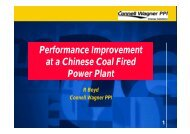Performance Improvement at a Chinese Coal Fired Power Plant