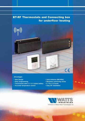 BT-RF Thermostats and Connecting box for ... - Watts Industries
