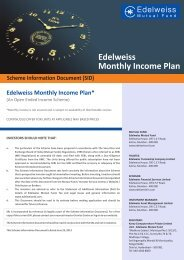 Scheme Information Document (SID) Edelweiss Monthly Income Plan