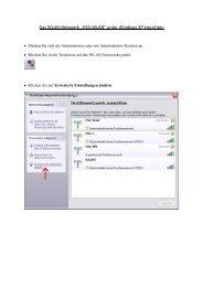 """Das WLAN-Netzwerk """"HSA-WLAN"""" unter Windows XP einrichten"""