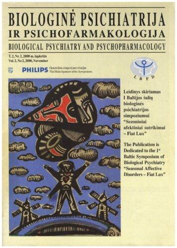 Žurnalo numeris skiriamas Pasaulinės biologinės psichiatrijos ...