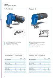 TruTool S 160 TruTool S 160 E Technical Data TruTool S 160 E ...