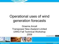 Operational uses of wind generation forecasts