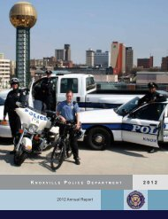 KPD Annual Report - City of Knoxville