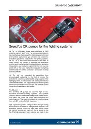 Grundfos CR pumps for fire fighting systems