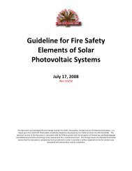 Guideline for Fire Safety Elements of Solar Photovoltaic Systems