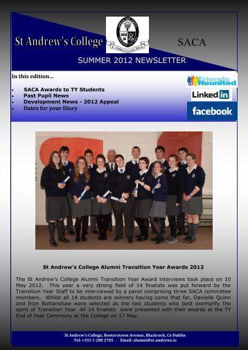 SUMMER 2012 NEWSLETTER - St. Andrew's College, Dublin