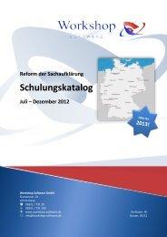 Schulungskatalog - Workshop Software GmbH