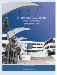 international student post-arrival information - University of Nicosia