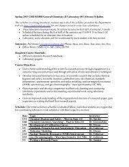 Spring 2013 CHEM108H General Chemistry II Laboratory 001 ...