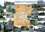 Calendrier des réunions - Le développement rural en wallonie