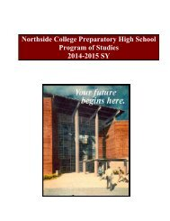 Program of Studies - Northside College Prep High School - CPS
