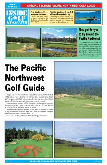 The Pacific Northwest Golf Guide - Inside Golf Newspaper
