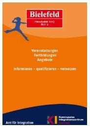 Programm 2013, Heft 2 - RAA Bielefeld