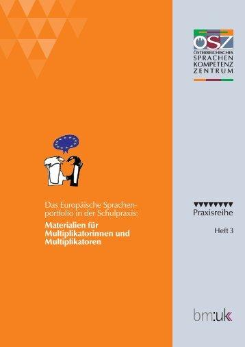 Praxisreihe Das Europäische Sprachen- portfolio in der Schulpraxis ...