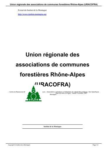 Union régionale des associations de communes forestières Rhône ...