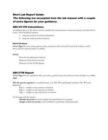 Short Lab Report Example Biology