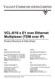 8/16 x E1 over Ethernet Multiplexer (TDM Over IP ... - Aries Telecom