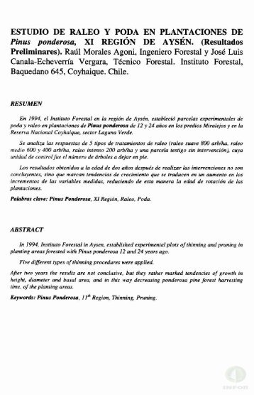 ESTUDIO DE RALEO Y PODA EN PLANTACIONES DE Pinus ...