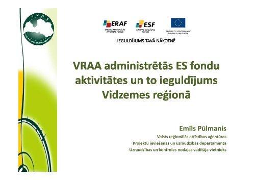 VRAA administrētās programmas - Valsts reģionālās attīstības ...