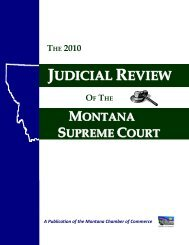 Judicial - Montana Chamber of Commerce