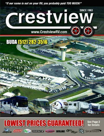 We buy RVs! Family Owned & Operated Since 1963 - Crestview RV
