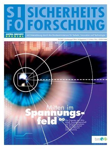 Broschüre Sicherheitsforschung deutsch - KIRAS ...