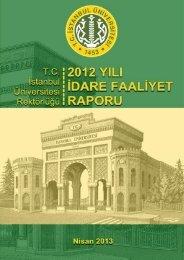 2012 İdare Faaliyet Raporu - İstanbul Üniversitesi