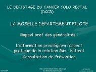 LE DEPISTAGE DU CANCER COLO RECTAL \(DCCR\) - ammppu