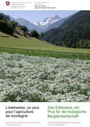 La recherche agronomique suisse à votre service Die - Swissnature