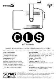 CLS Loudspeaker - Sonab Audio