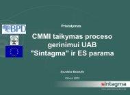 CMMI taikymas proceso gerinimui UAB