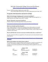 Salt Lake Community College Concurrent Enrollment FAQ