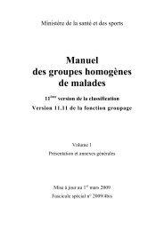 Manuel des groupes homogènes de malades - Département d ...