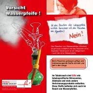 Vorsicht Wasserpfeife ! - www.gesunde-schule-bw.de
