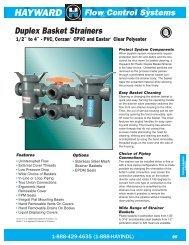 Hayward Duplex Basket Strainers 1 - CMP Supplies Ltd., Part.