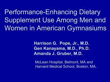 Performance-Enhancing Dietary Supplement Use Among Men and ...