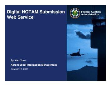 Digital NOTAM Submission Web Service - NFDC
