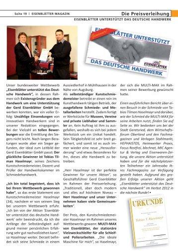 Reportage - Kunstschmiede Haselmayr