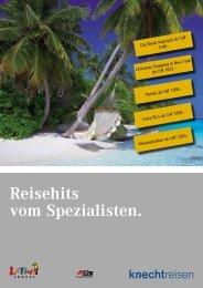 Reisehits vom Spezialisten. - Knecht Reisen