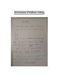 Correctness of Huffman coding