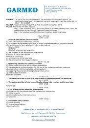 Garmed Sp. z o.o., Piaskowa 4 lok U3, 01-067 Warszawa Sąd ...