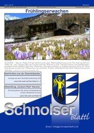 gemeinde - Schnolser Blattl