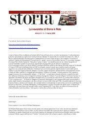 Leggi la newsletter di Storia in Rete n° 3 2009
